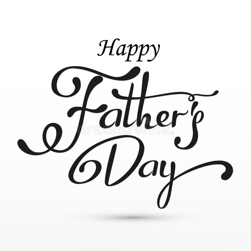 Saludo feliz del día de padres Tarjeta de letras Vector el fondo con las corbatas, la corbata de lazo y los vidrios del garabato imágenes de archivo libres de regalías