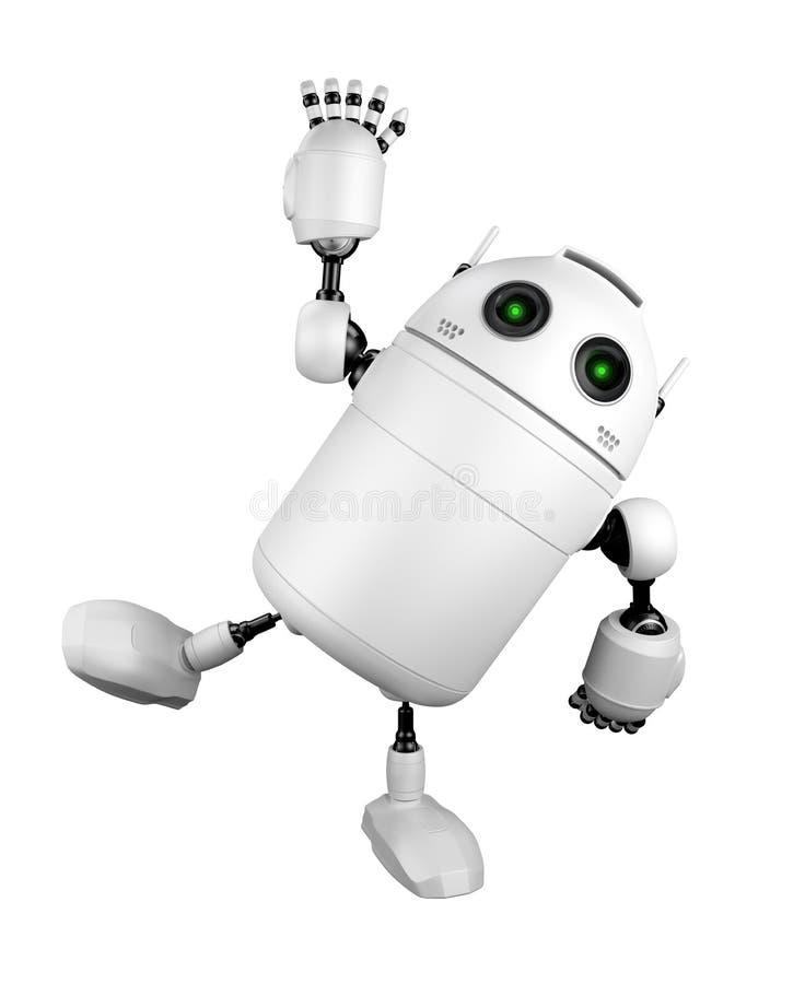Saludo lindo del robot y el decir hola libre illustration