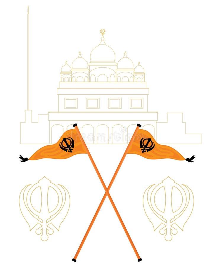 Saludo sikh stock de ilustración