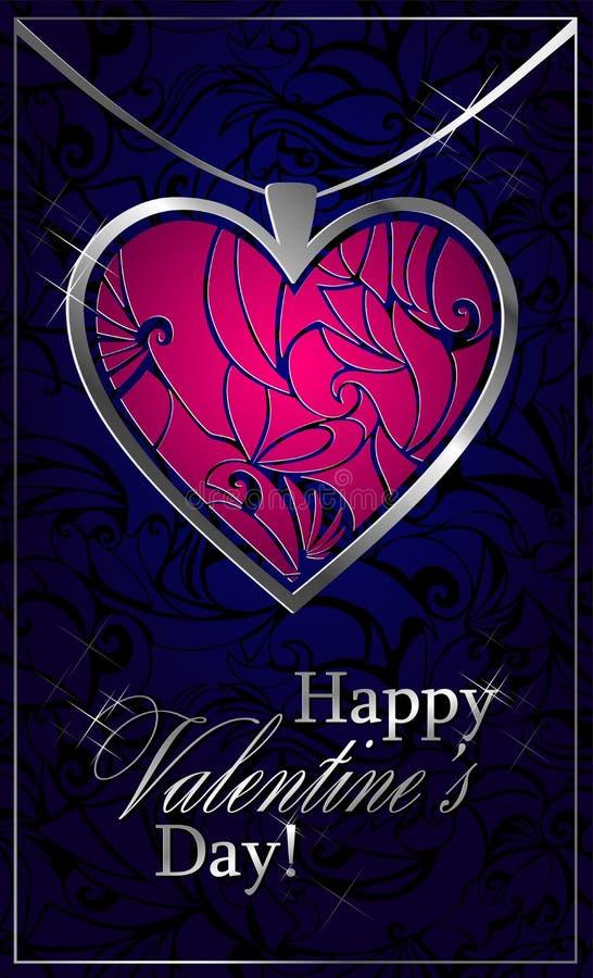 Saludos con día del ` s de la tarjeta del día de San Valentín libre illustration