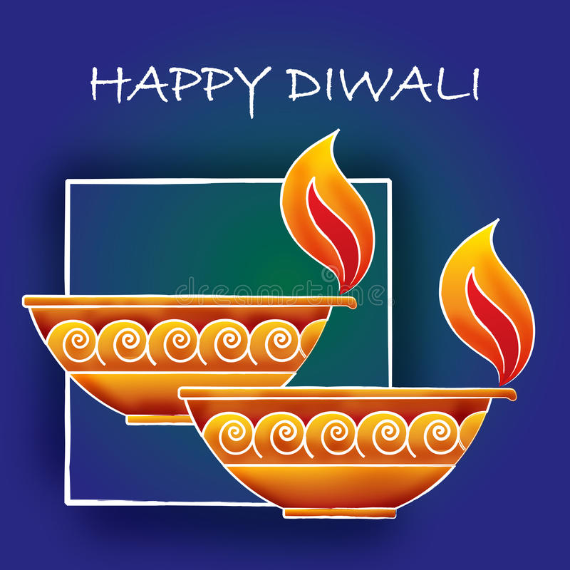 Saludos de Diwali stock de ilustración