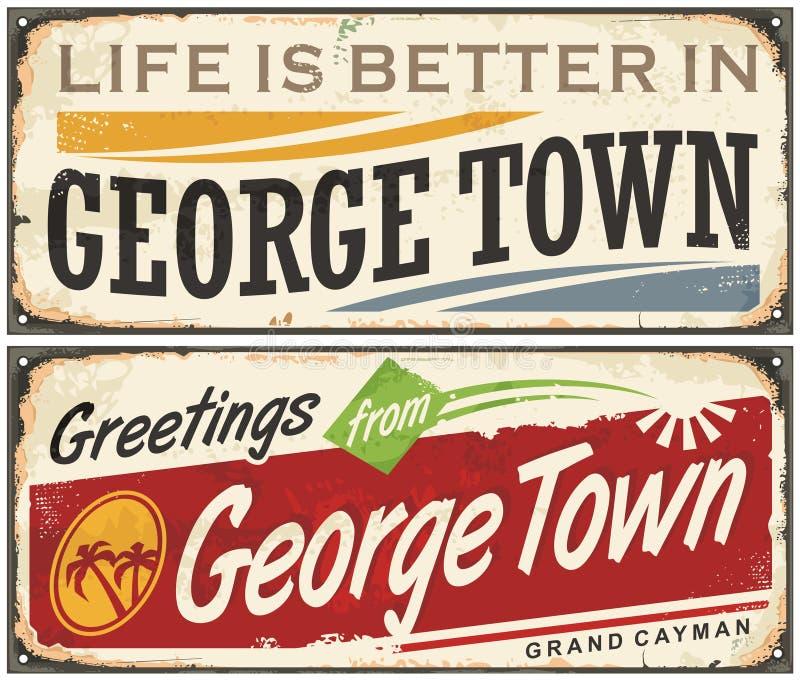Saludos de George Town stock de ilustración