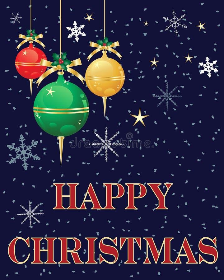 Saludos de la Navidad stock de ilustración