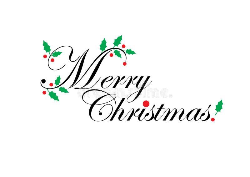 Saludos de la Navidad ilustración del vector