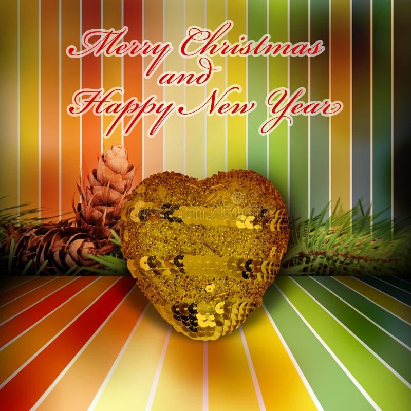 Saludos de la Navidad y del Año Nuevo foto de archivo libre de regalías