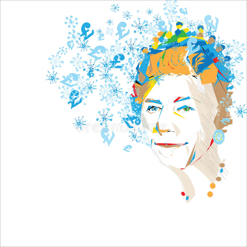 Saludos de la reina ilustración del vector
