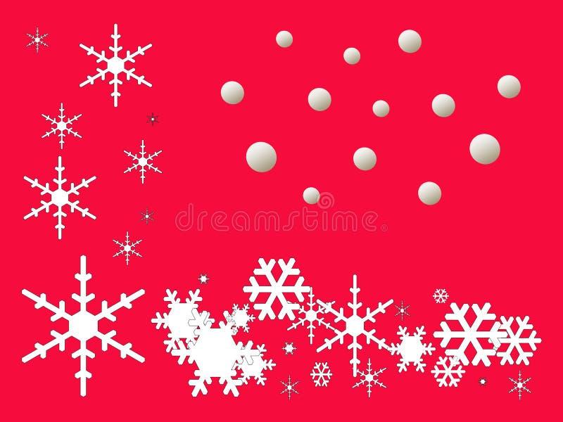 Saludos de las estaciones - ilustrador de la escama de la nieve imagen de archivo