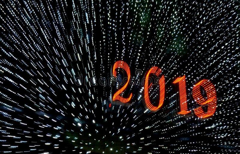 2019 saludos de una Feliz Año Nuevo fotos de archivo