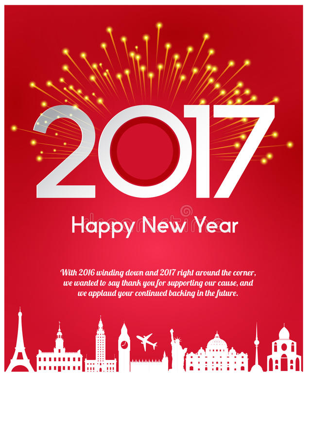 Saludos del Año Nuevo fotos de archivo