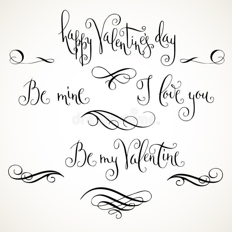 Saludos del día de tarjeta del día de San Valentín stock de ilustración