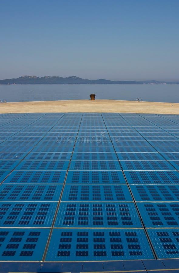 Saludos a la instalación de Zadar del sol imagen de archivo libre de regalías
