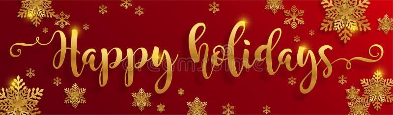 Saludos y Feliz Año Nuevo 2020 de la Feliz Navidad ilustración del vector