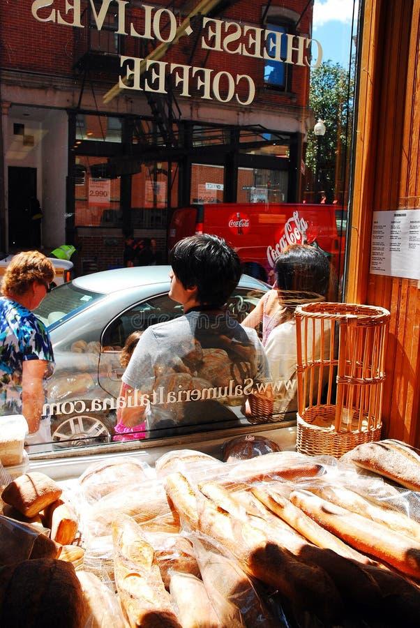 Salumeria in North End di Boston immagine stock libera da diritti