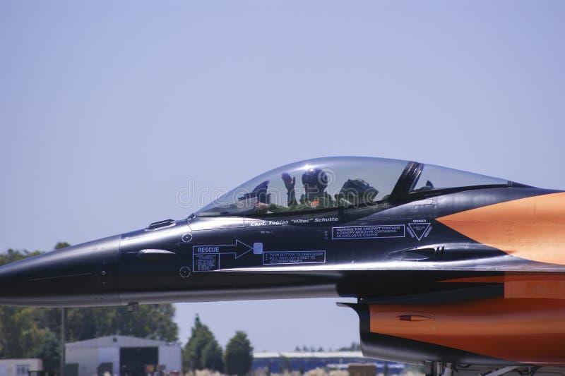 Salut pilote photos libres de droits