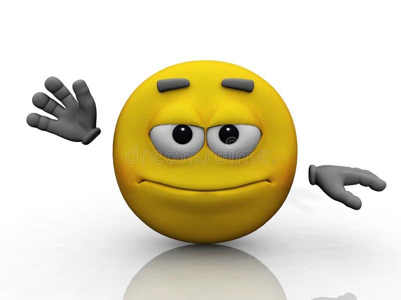 Salut smiley illustration libre de droits