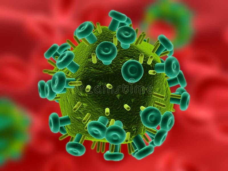 Salut virus illustration libre de droits