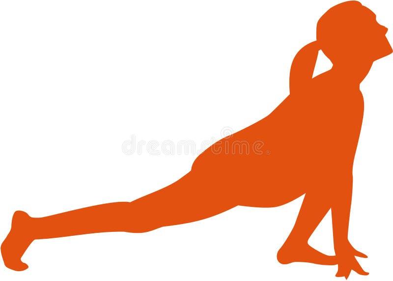 Salutation солнца йоги - расположите sanchalanasana ashwa иллюстрация штока