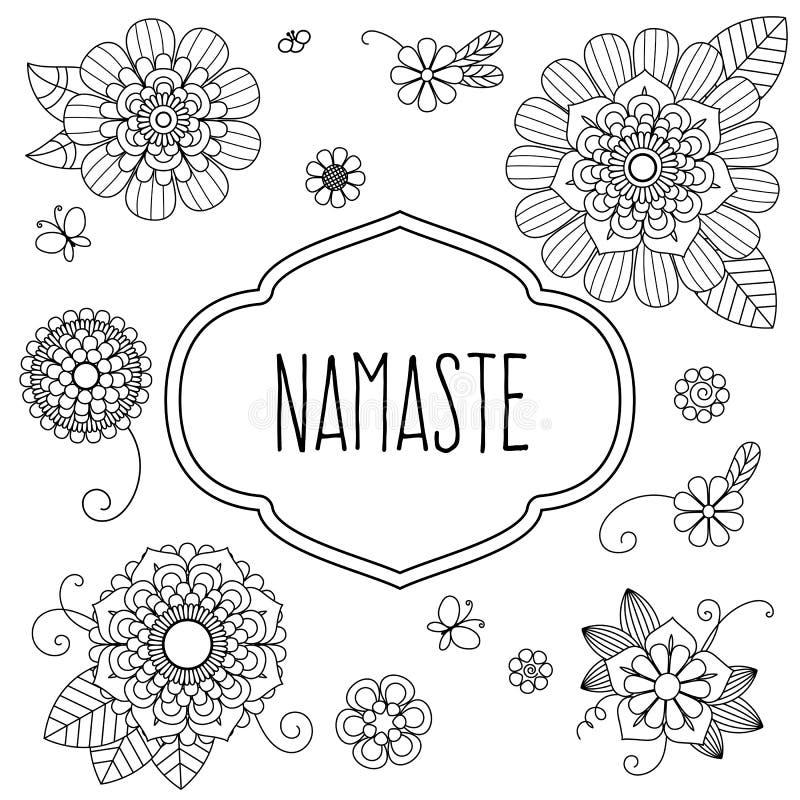 Salutation bienvenue d'Indien - Namaste illustration libre de droits