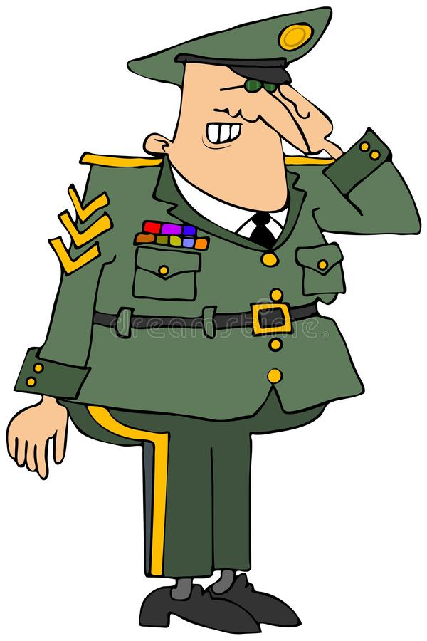 Salutation d'officier militaire illustration de vecteur