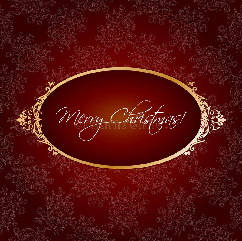 Salutation de cru de Noël illustration stock