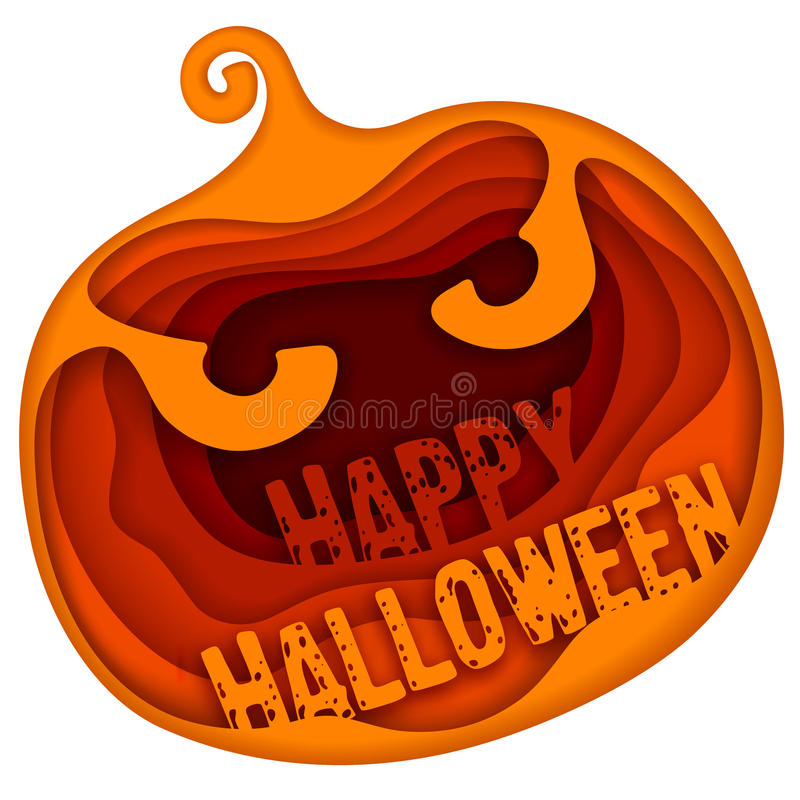 Salutation de Halloween illustration stock