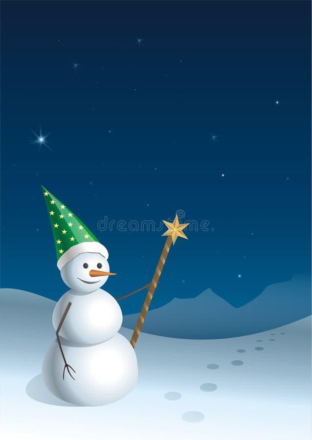 salutation de Noël de 2 cartes illustration libre de droits