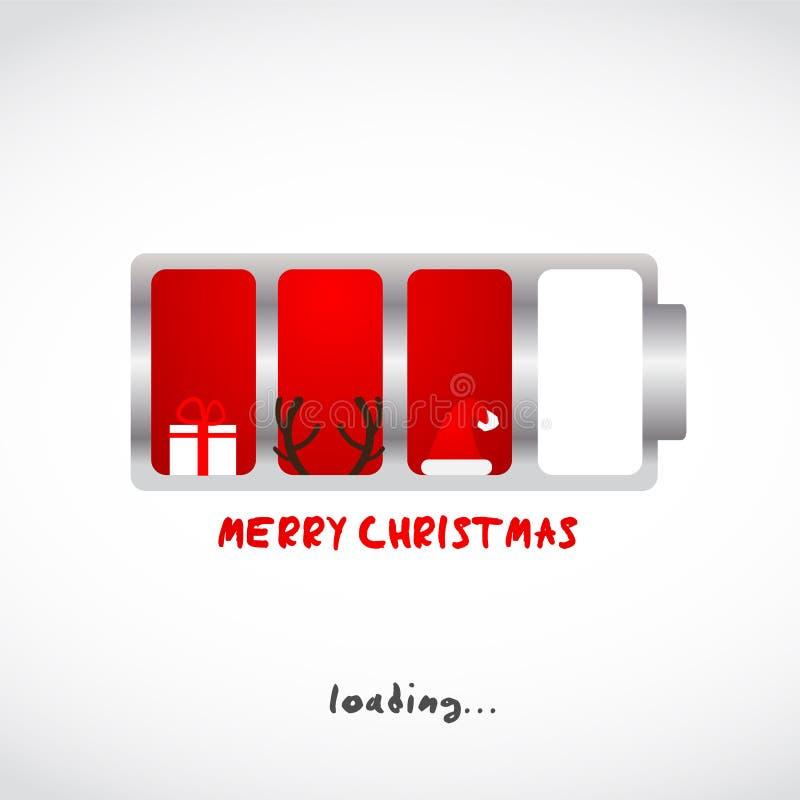 Salutation de Noël et d'an neuf illustration libre de droits