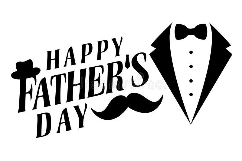 Salutation heureuse de jour de pères illustration stock