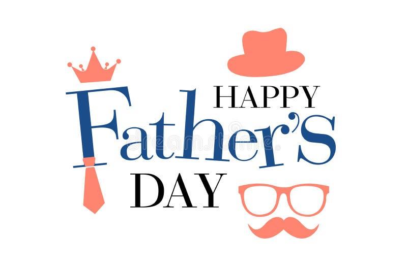 Salutation heureuse de jour de pères illustration de vecteur