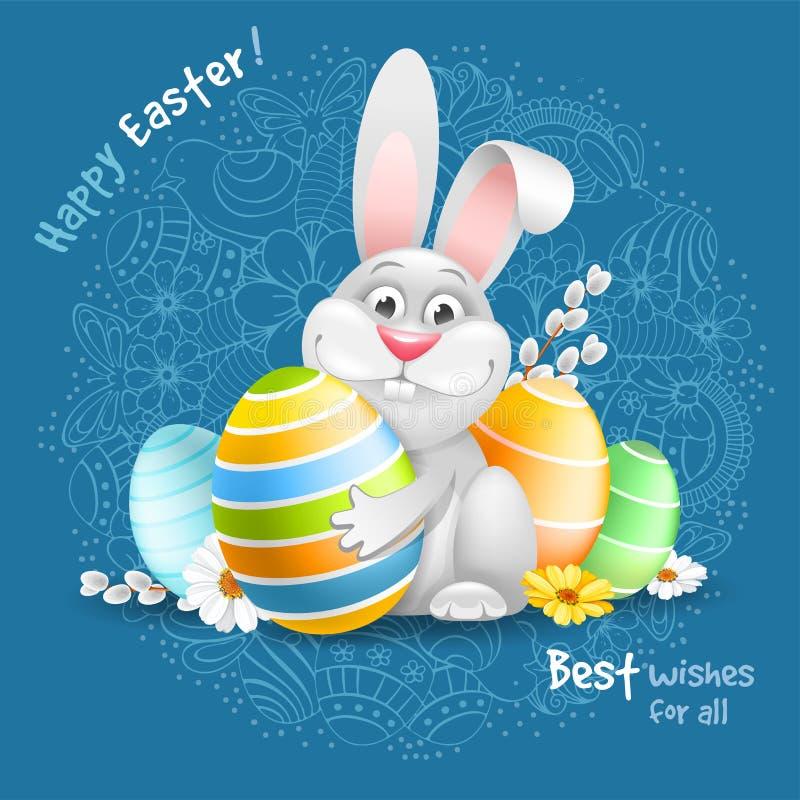 Salutation heureuse de Pâques illustration de vecteur