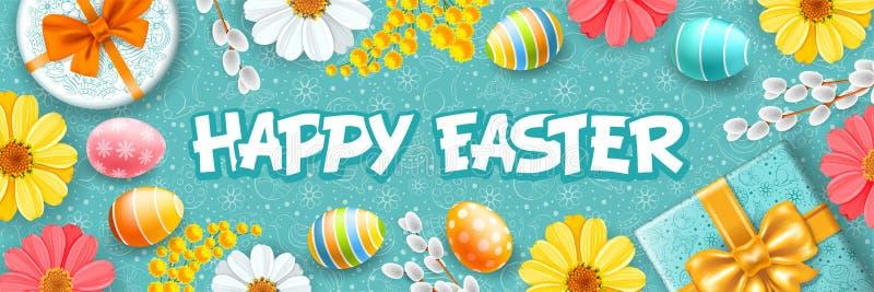 Salutation heureuse de Pâques illustration stock