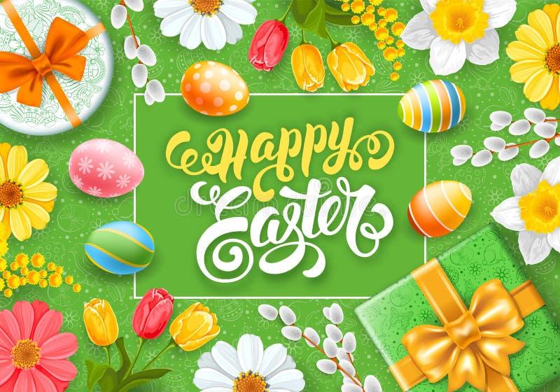 Salutation heureuse de Pâques illustration libre de droits