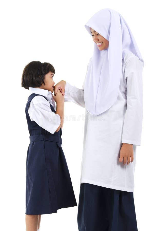 Salutation musulmane photographie stock