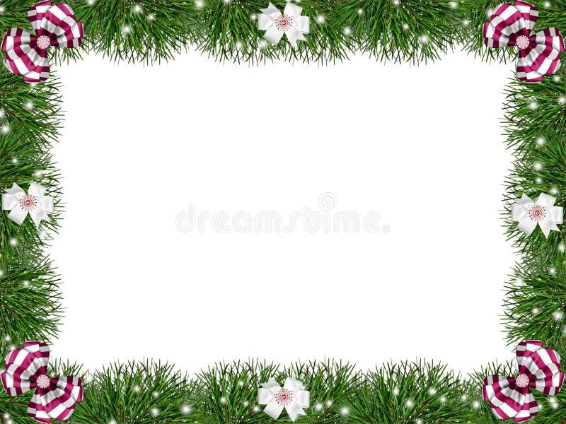 Salutation, trame de Noël. illustration stock