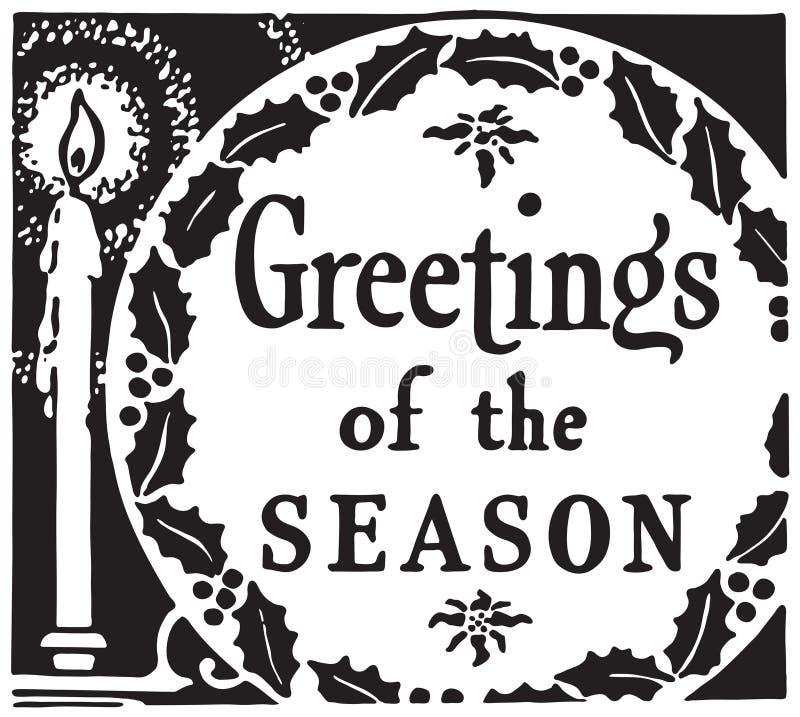 Salutations de la saison illustration de vecteur