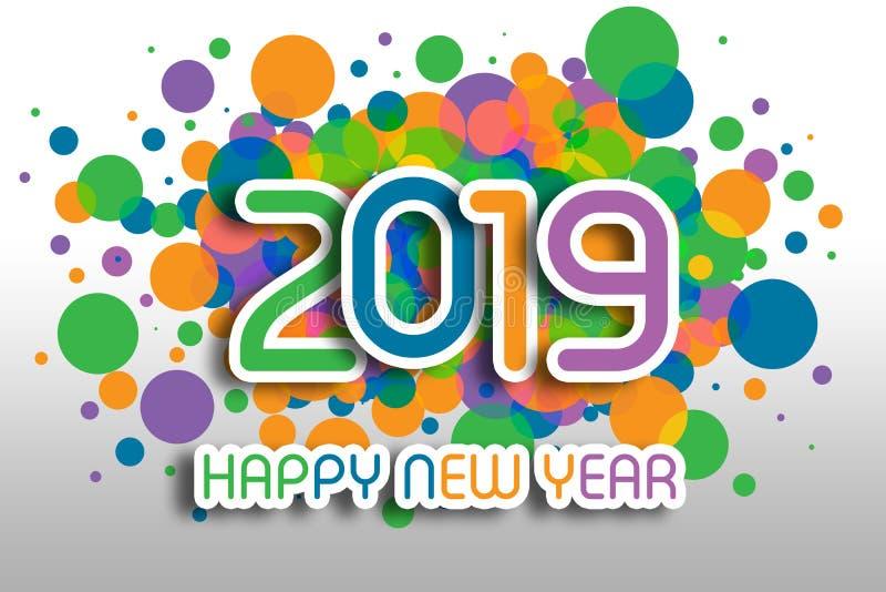 Salutations de Noël de 2019 bonnes années photos libres de droits