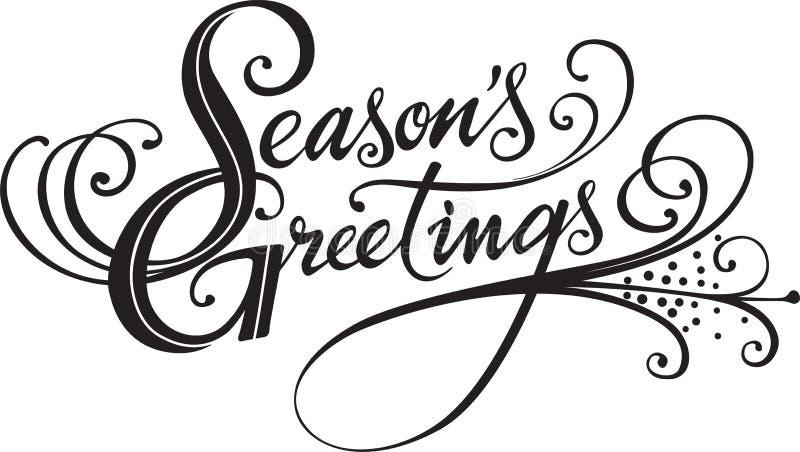 Salutations de saisons illustration libre de droits