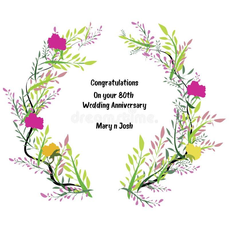 Salutations florales de fond illustration stock
