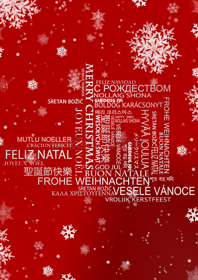 Salutations multi de langue de Noël illustration libre de droits