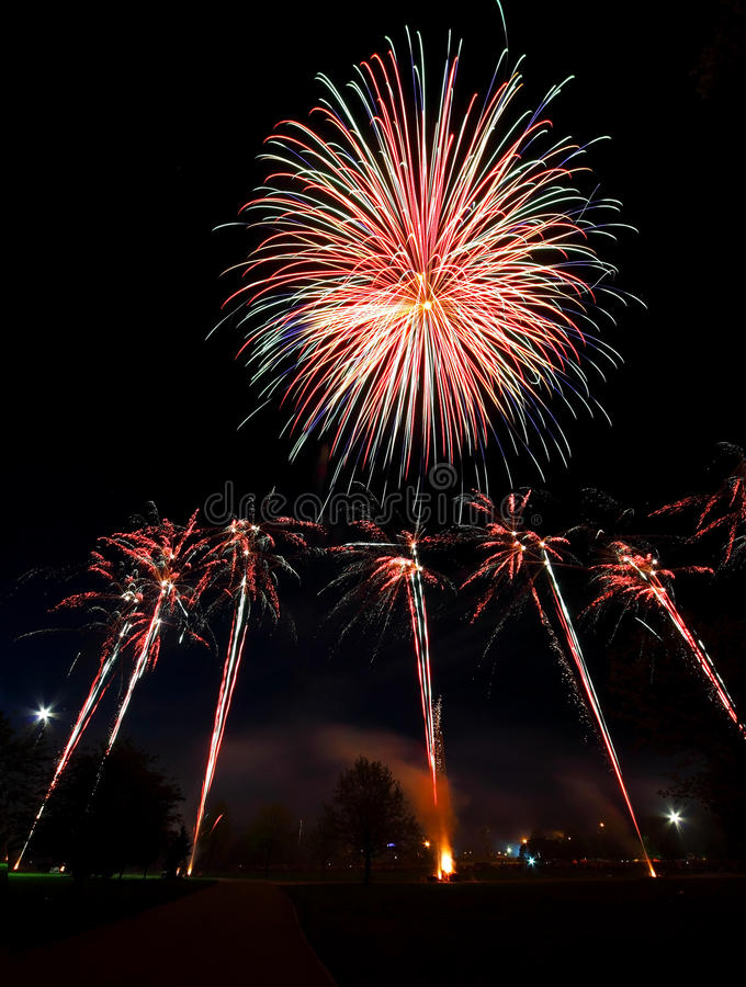 Download Salute stock image. Image of evening, display, night - 25277725