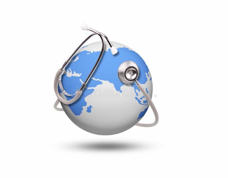 Salute blu del mondo illustrazione di stock