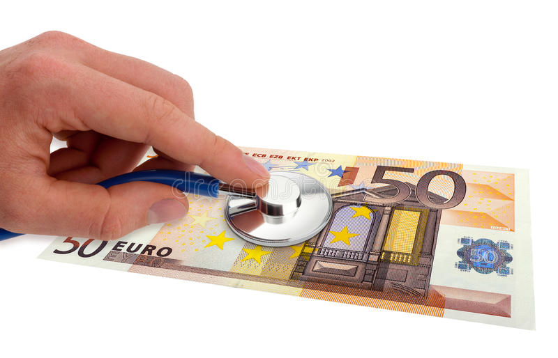 Salute dell'euro immagine stock libera da diritti