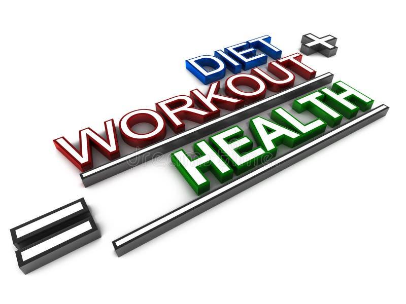 Salute di allenamento di dieta illustrazione di stock