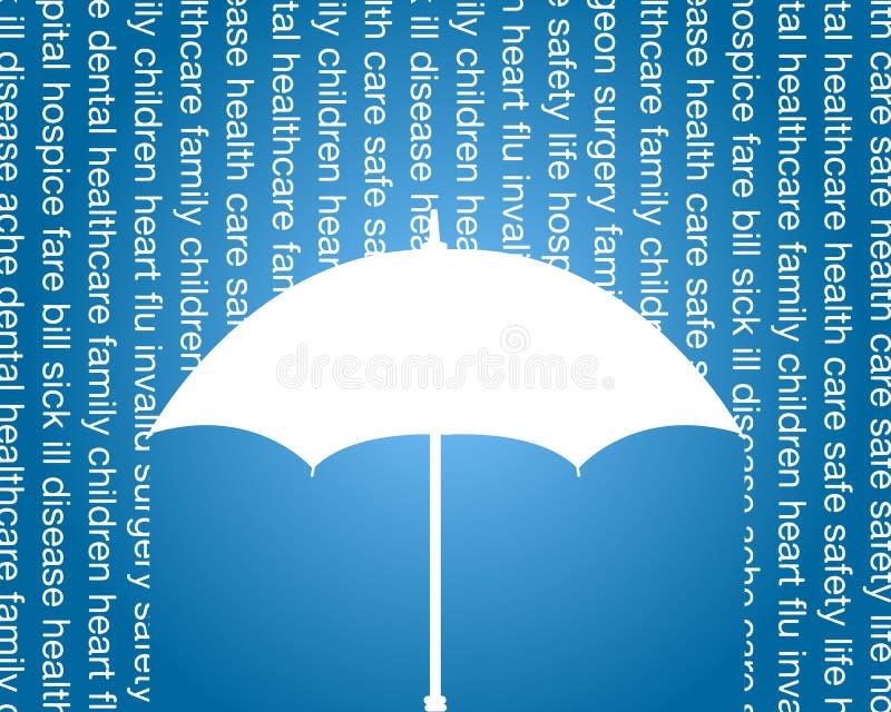 Salute ed annuncio pubblicitario di assicurazione sulla vita illustrazione di stock