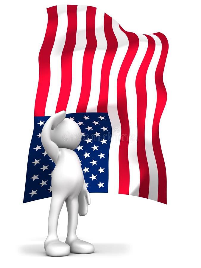 Salute the flag stock illustration
