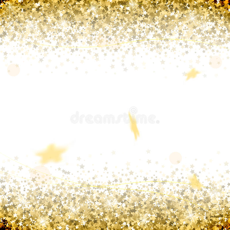 Salute of gold stars on a white background vector illustration