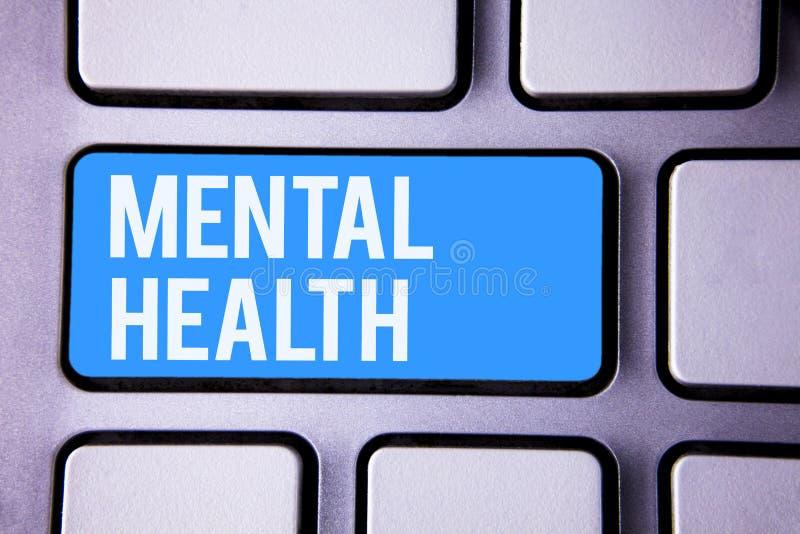 Salute mentale del testo di scrittura di parola Concetto di affari per benessere psicologico ed emozionale di circostanza di una  fotografia stock