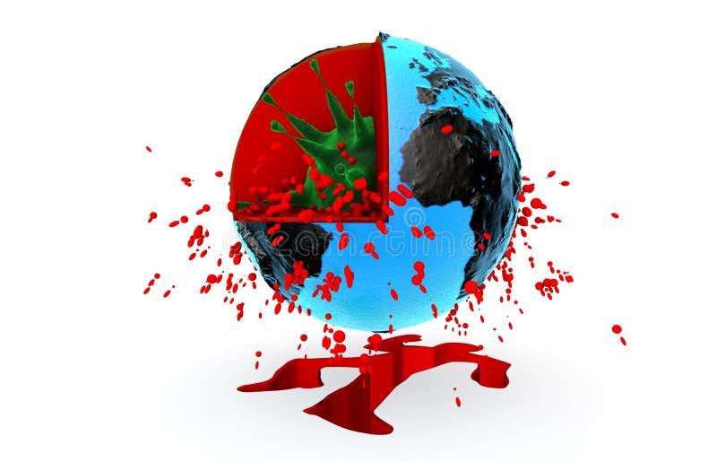 Salute, pandemia, virus, ebola illustrazione vettoriale