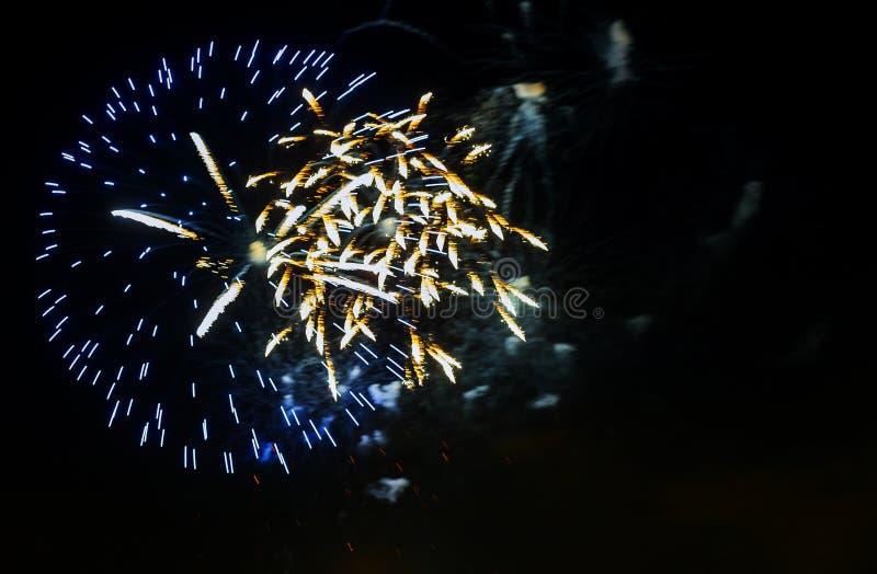 Salutera i heder av det nya året och en stor ferie royaltyfri fotografi
