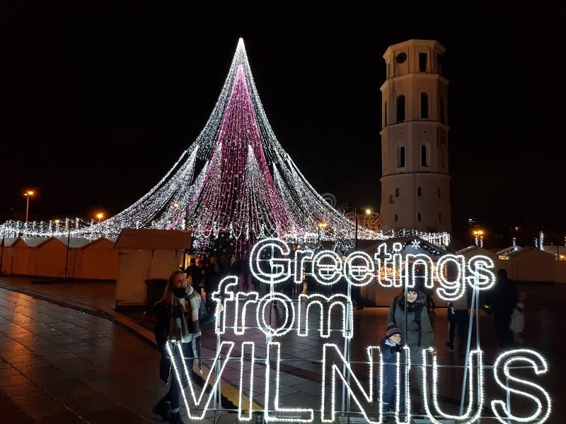 Saluti da Vilnius fotografie stock